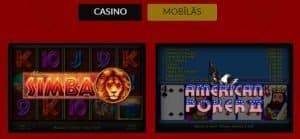 Feniksscasino mobilās spēles