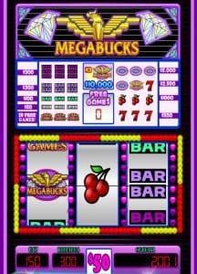 Megabucks spēļu automāti