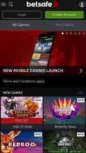 Mobilais kazino online Betsafe