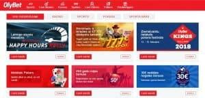 Olybet tiešsaistes kazino bonusi