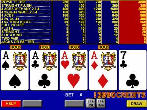 Video pokers online