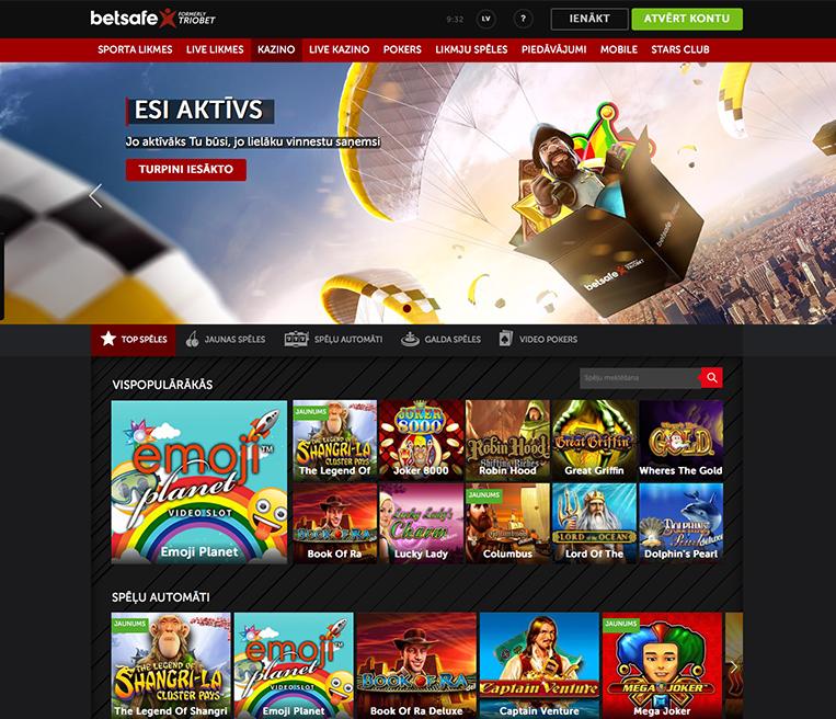 Betsafe Latvija kazino: labākie piedāvājumi un bonusi vienuviet