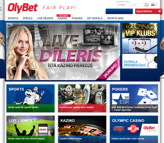 InternetaKazino.lv - Olybet kazino