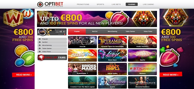 Optibet Casino Review