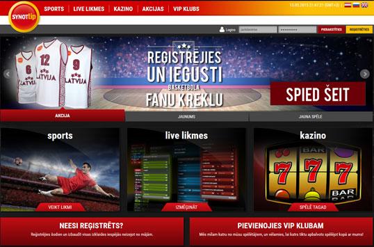 SYNOTTIP interneta kazino - Latvijā licencētie kazino