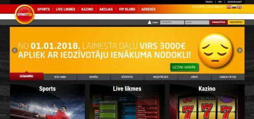 Synottip.lv – Spēļu automāti un totalizatori | Latvijas Kazino