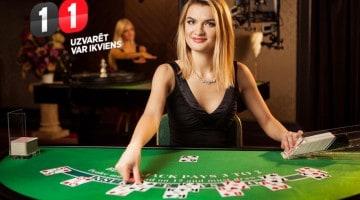 Spēlē Live Blackjack un saņem 100% naudas atmaksu līdz 10€