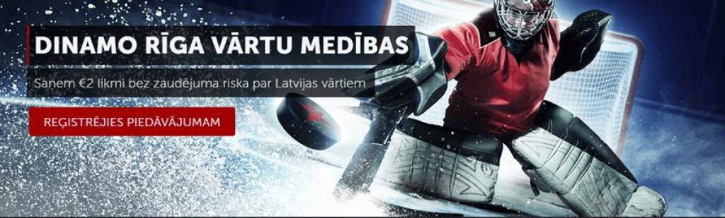 Dinamo Rīga likme bez zaudējuma riska no Betsafe